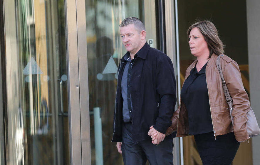 Kevin McColgan, a brother of Daniel, on the way out of the inquest yesterday