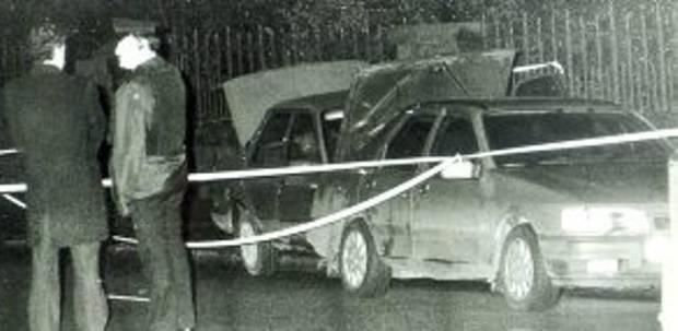 The scene of the shooting of Pearse Jordan, Falls Road, Belfast