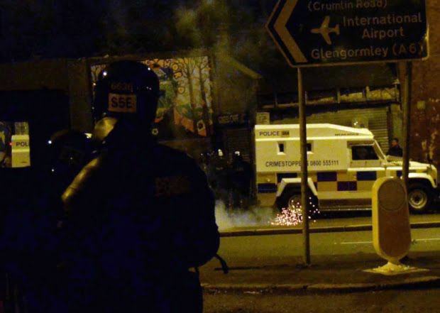 Rioting took place in north Belfast on July 13 last year