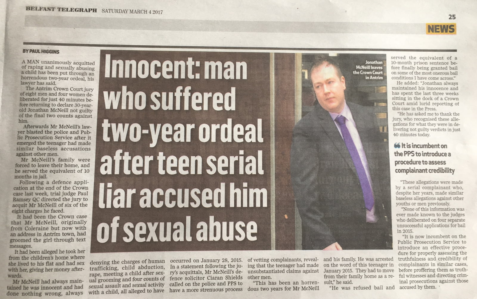 Innocent: man who suffered two-year ordeal after teen serial liar accused him of sexual abuse