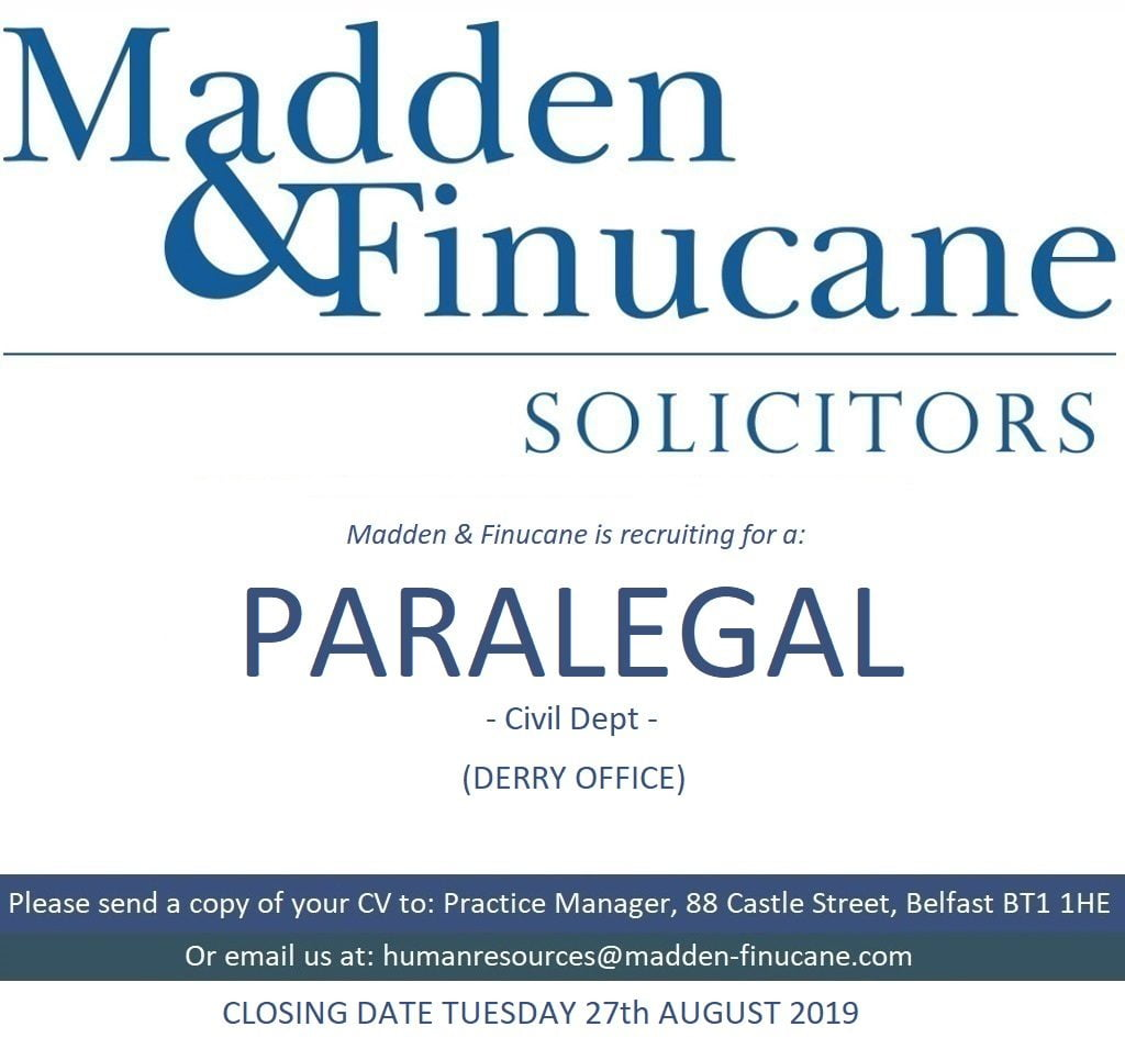 Job Opportunity at Madden & Finucane Solicitors