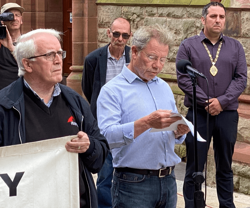 Today's speech by Joe McKinney, brother of Willie, to Bloody Sunday rally in Derry