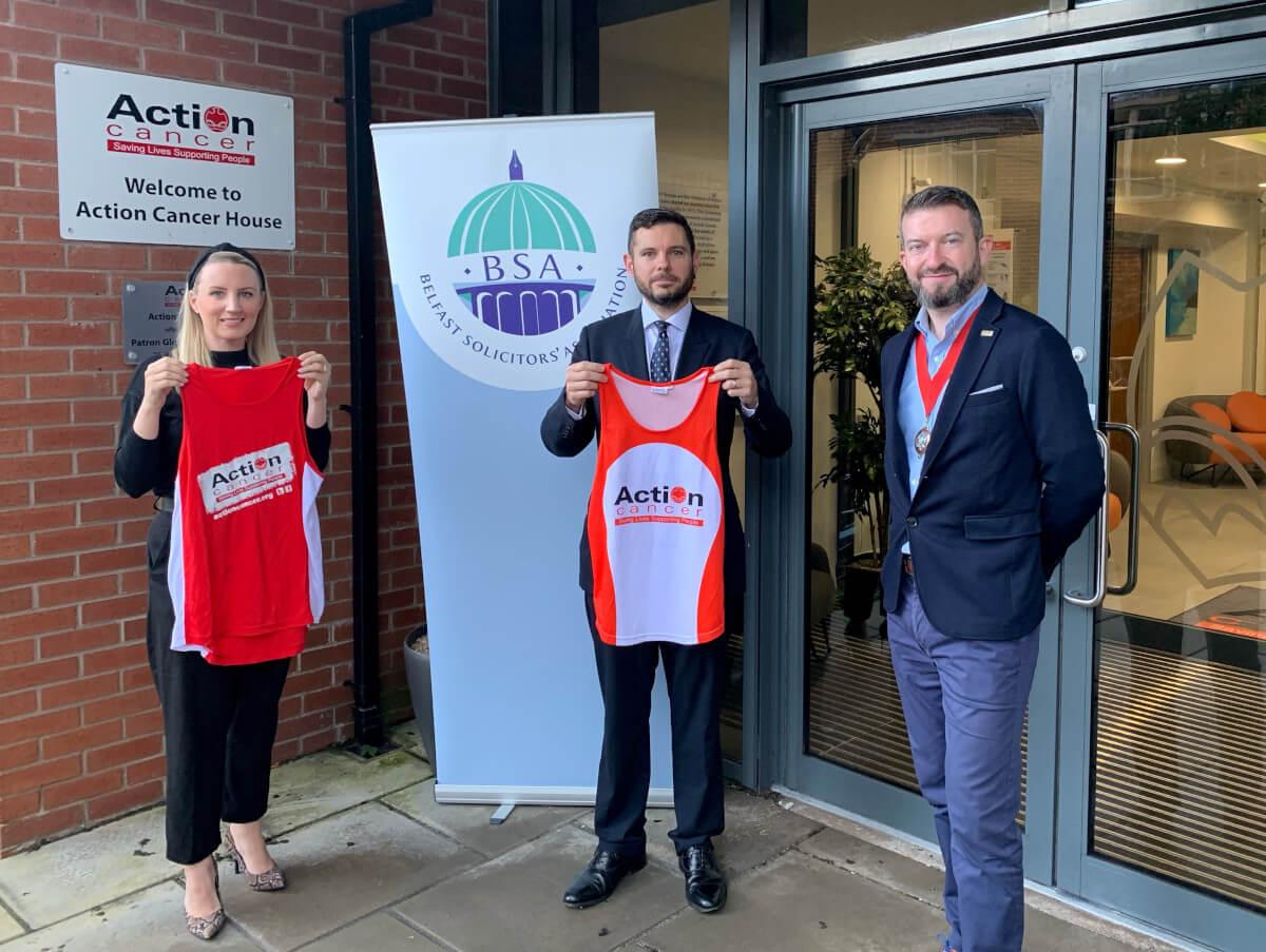 Madden & Finucane are running the Belfast City Marathon for Action Cancer & the Stroke Association